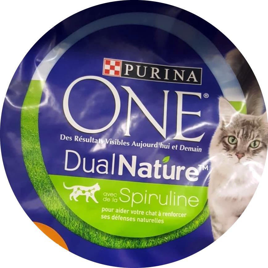 Purina one avec de la spiruline