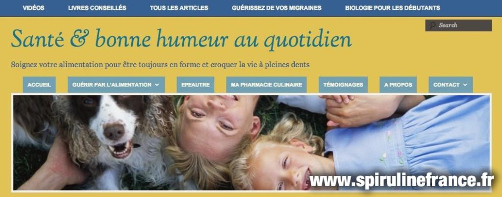 Le blog Santé & bonne humeur au quotidien