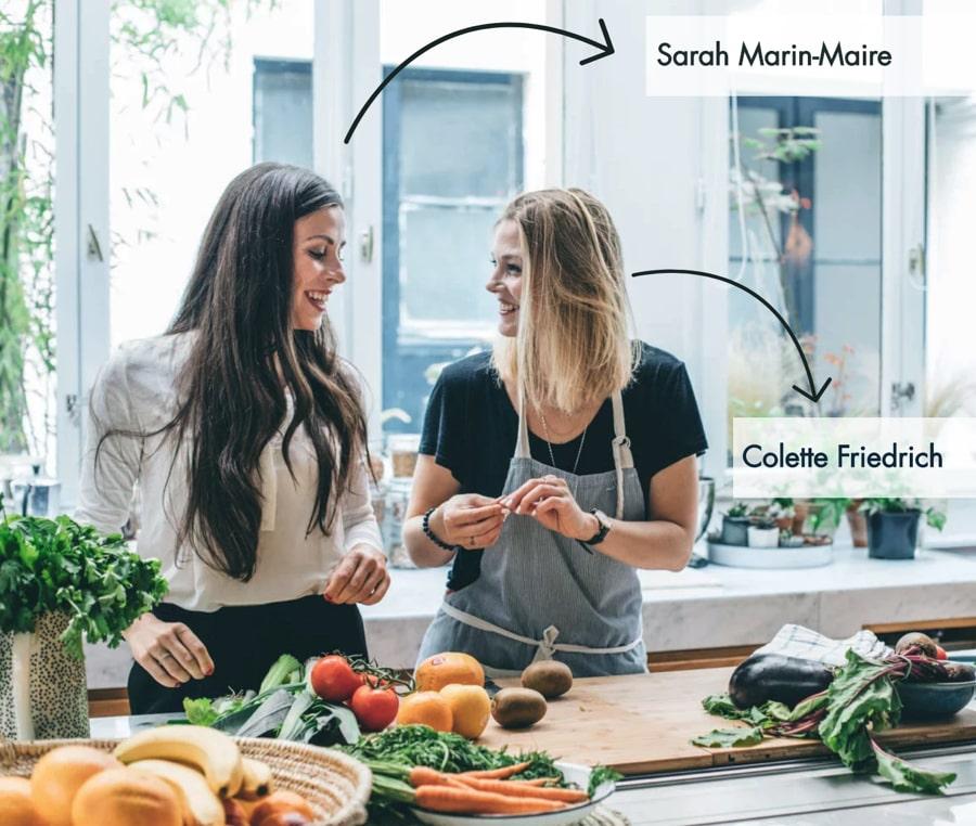 Sarah et Colette de makemehealthy