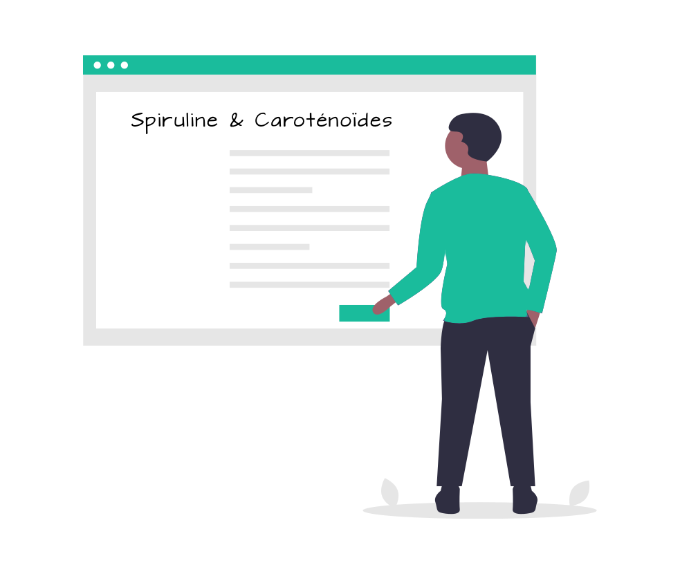 spiruline et caroténoïdes